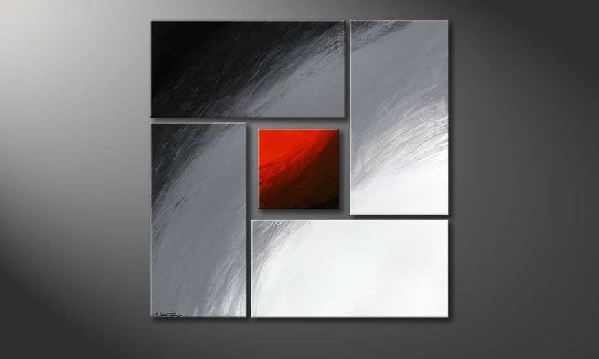 Internal Heat 90x90x2cm (2+4cm)Tableau contemporain