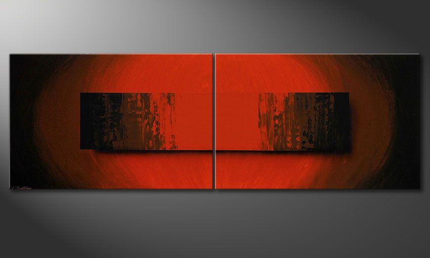 La grande toile moderne Glowing Red 240x80x2cm