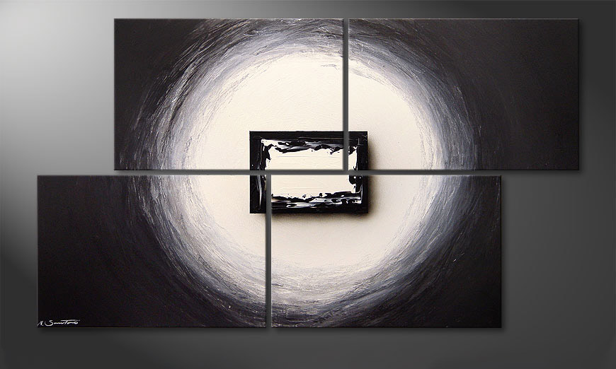 La peinture Black and White 140x80x2cm