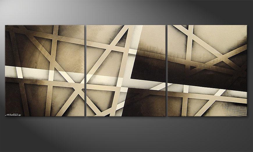 La peinture Earthquake 180x70x2cm