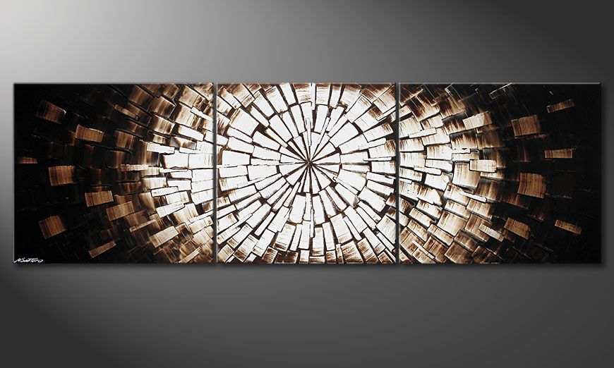 La peinture XXL Center of Babylon 260x80x2cm