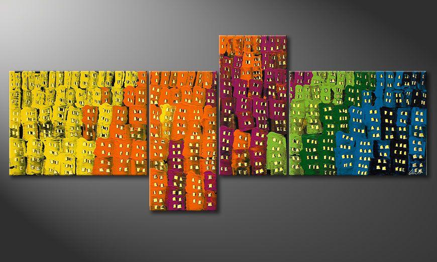 La peinture grand format Crazy Town 240x100x2cm
