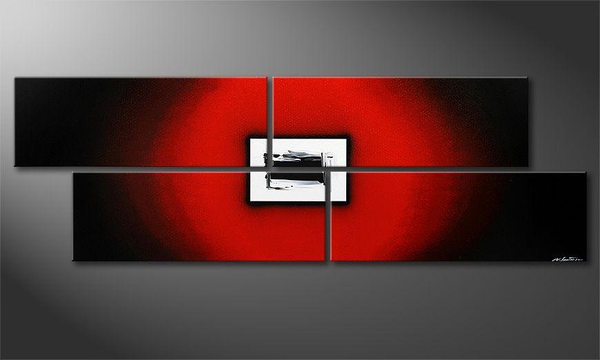 La peinture moderne grand format Lost Red 245x80x2cm