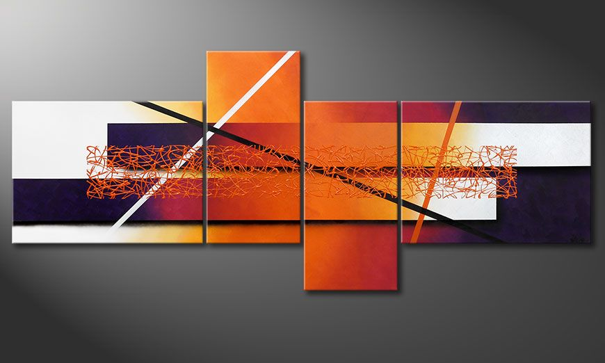 La toile XXL Afterglowing Memories 240x100x2cm