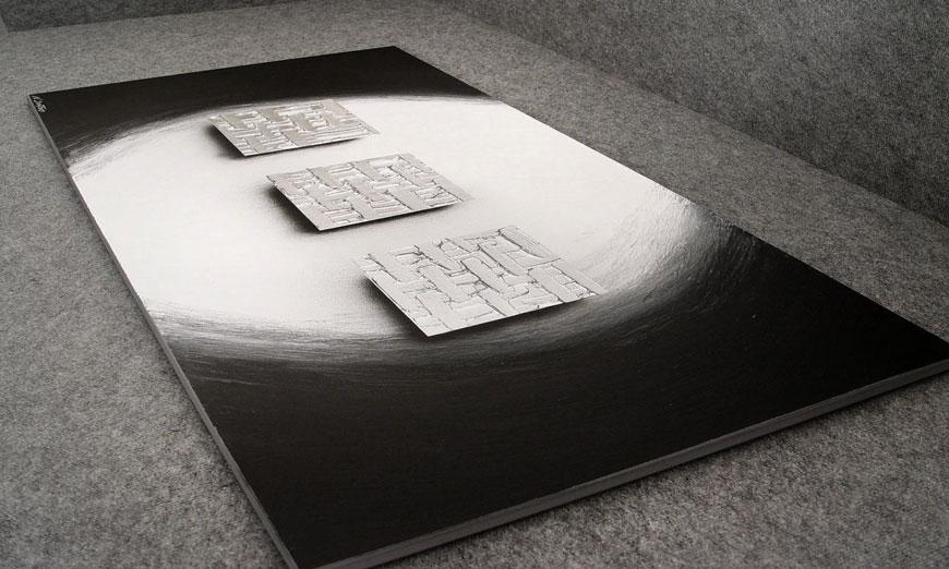 La toile XXL Cubes of Silver 140x70x2cm