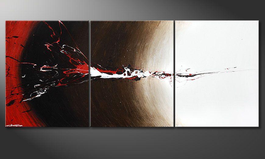 La toile XXL Erupted Contrast 210x90x2cm