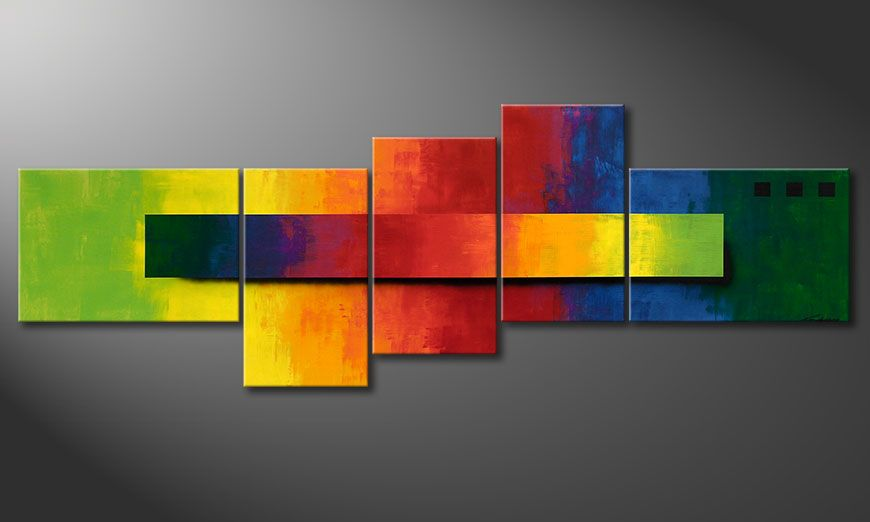 La toile XXL Facets of a Rainbow 260x90x2cm