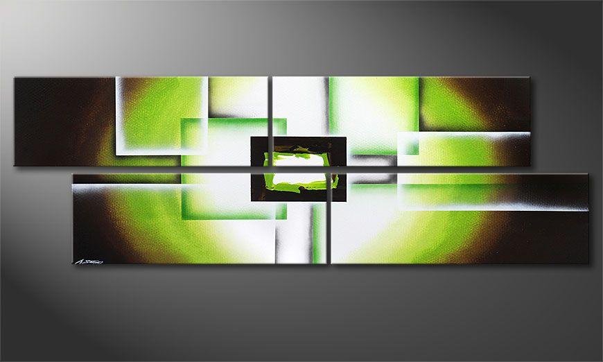 La toile XXL Green Spirit 245x80x2cm