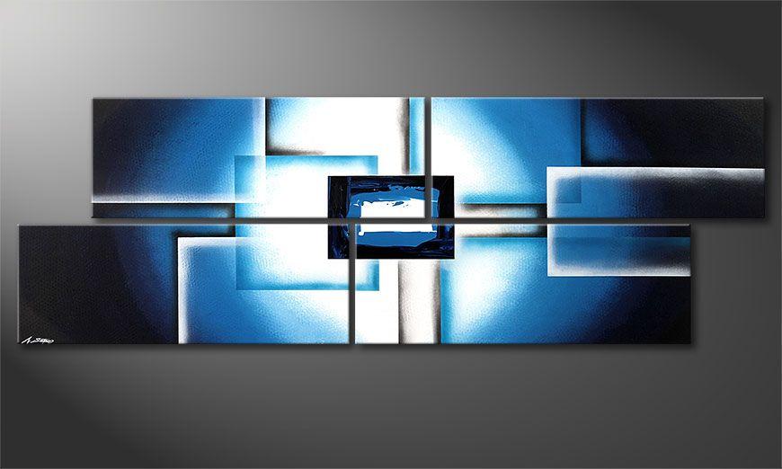 La toile XXL Polar Glow 245x80x2cm