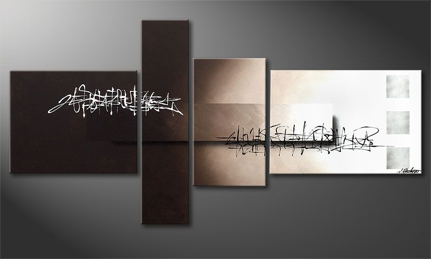 La toile moderne Between Night & Day 160x80x2cm
