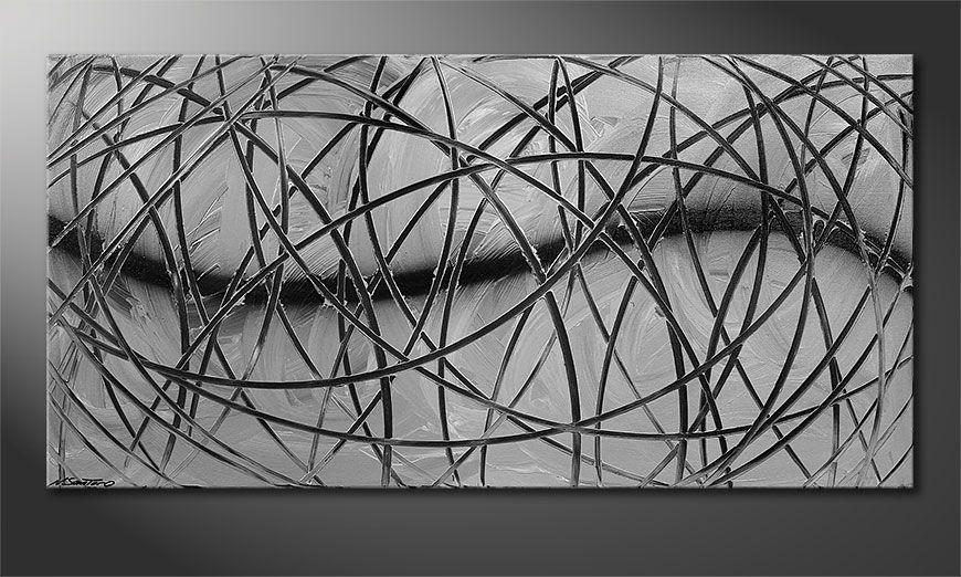 La toile moderne Broken White 140x70x2cm