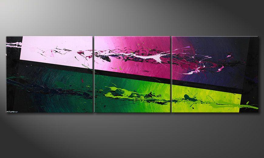 La toile moderne XXL Tropic Splash 260x80x2cm