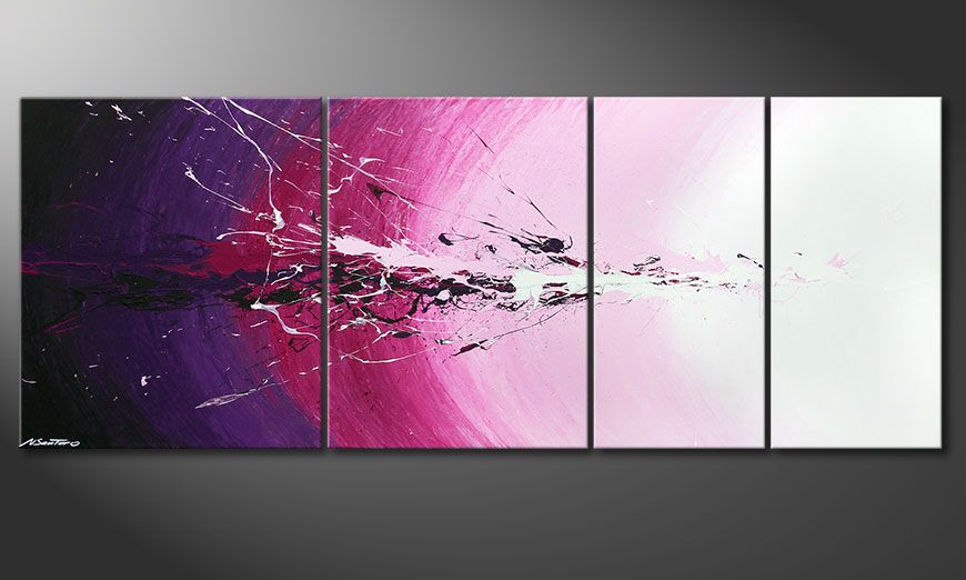La toile multi-panneaux Cosmic Splash 210x80x2cm