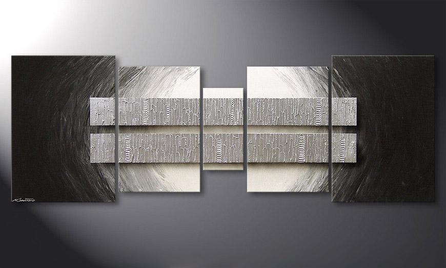 La toile pour salon Silver Blocs 200x70x2cm