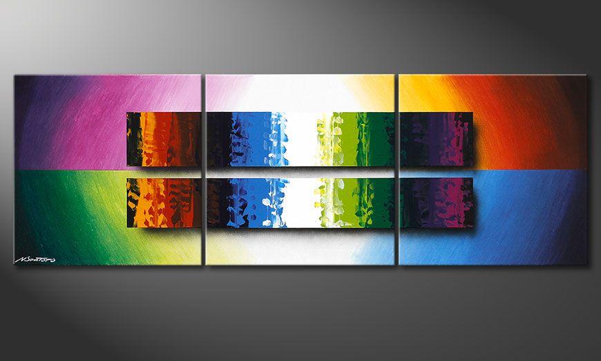 Le tableau coloré Expression of Colours 150x50x2cm