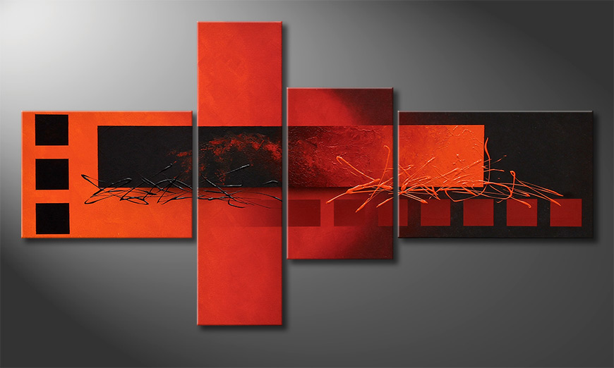Le tableau exclusif Fiery Emotions 130x70x2cm