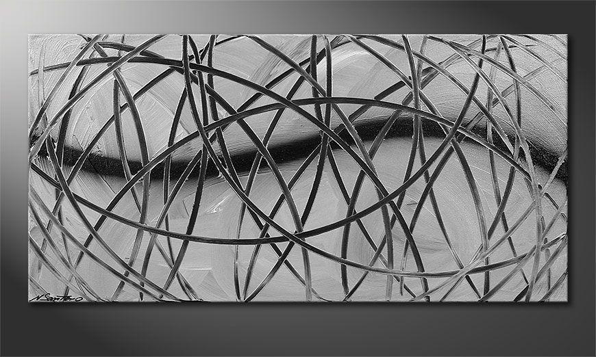 Le tableau moderne Broken White 100x50x2cm