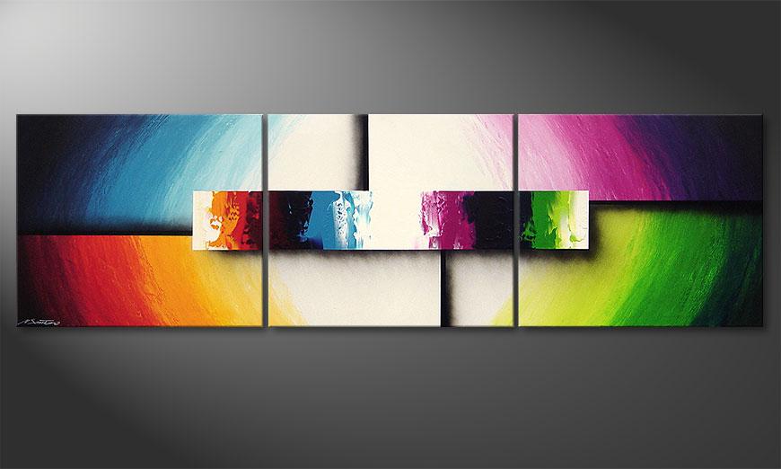 Le Tableau Moderne Colorful Life Ii 210X60Cm - Tableaux-Xxl