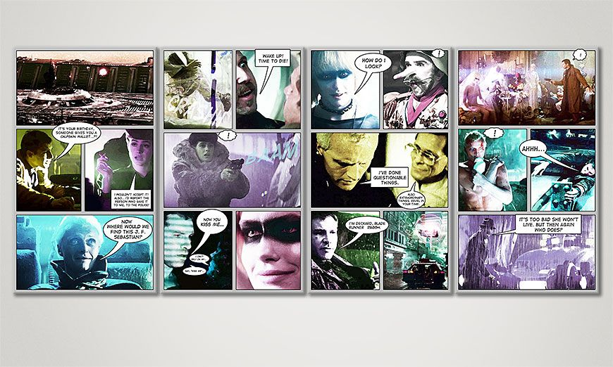 Le tableau mural BladeRunner 160x70x2cm