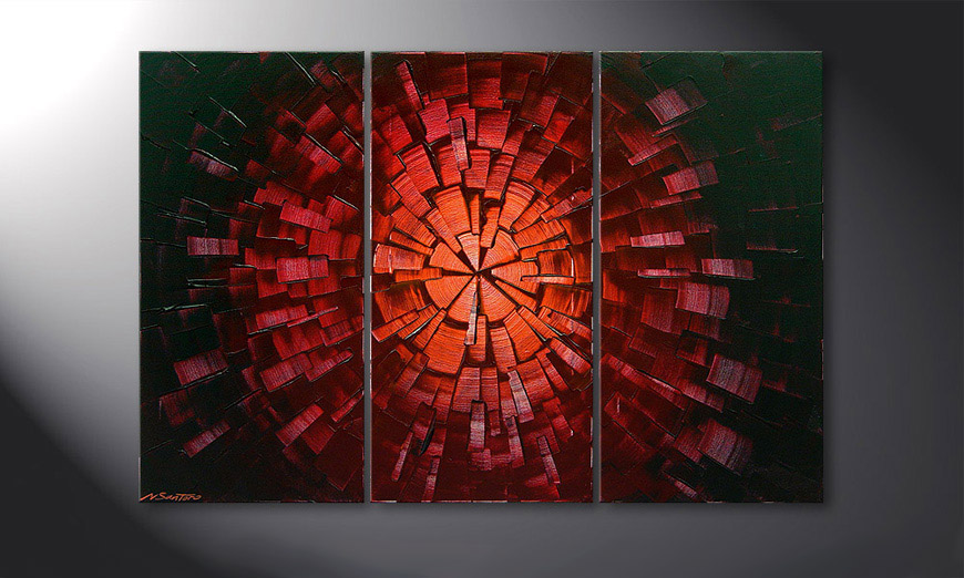 Le tableau mural Center of Glow 120x80x2cm