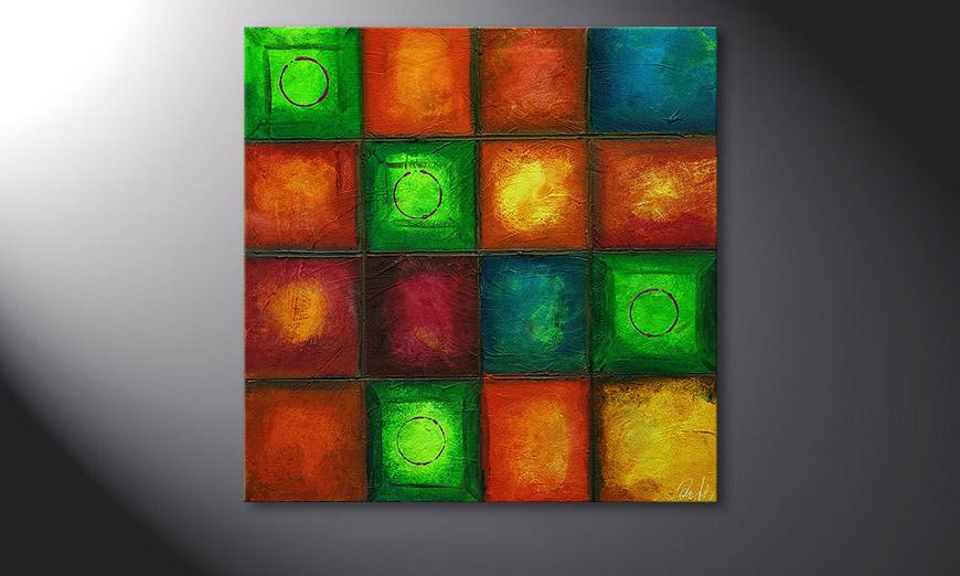 Le tableau mural Colorful Cubes 80x80x2cm