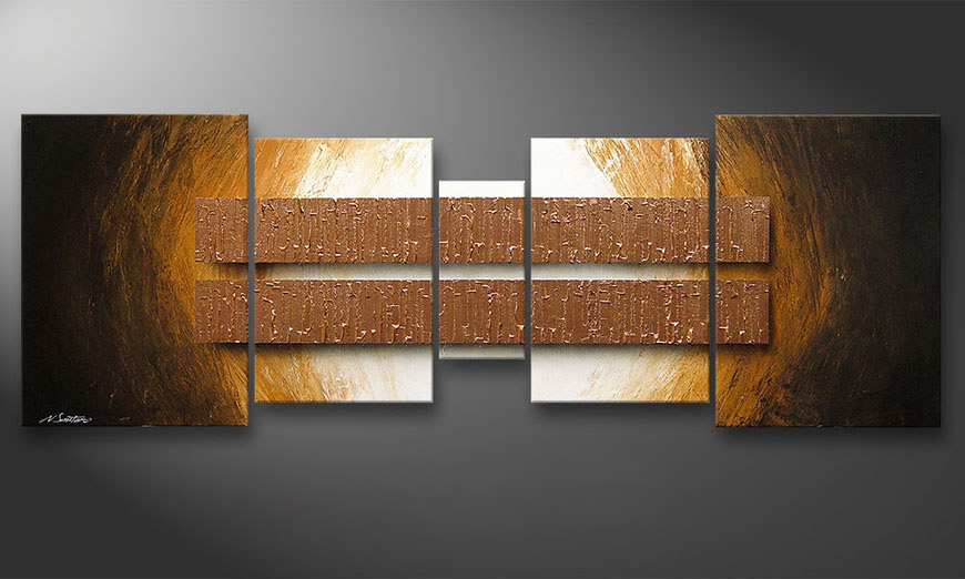 Le tableau mural Copper Blocs 200x70x2cm