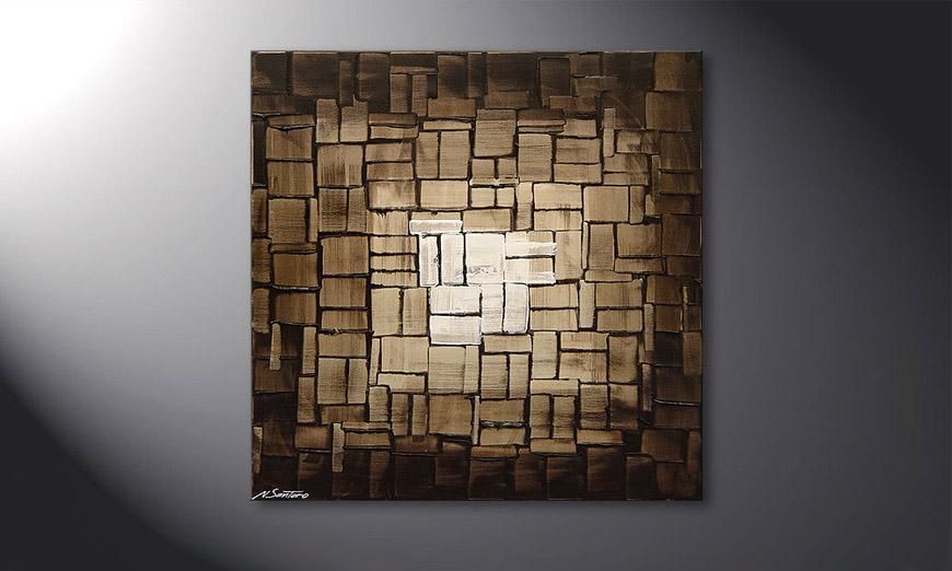 Le tableau mural Cubic Light 80x80x2cm