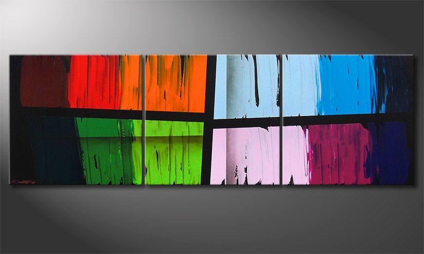 Le tableau mural Disparate Impact 210x70x2cm
