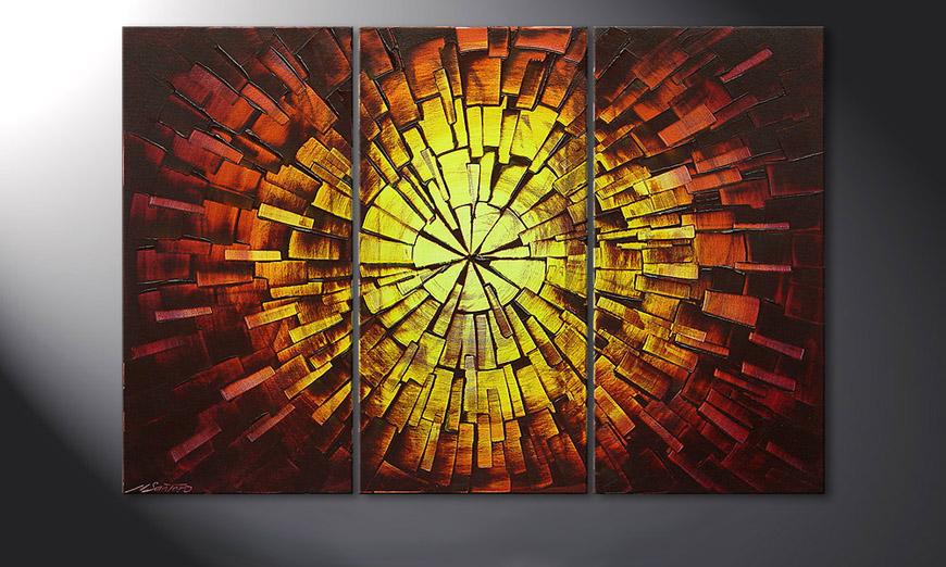 Le tableau mural Fiery Explosion 120x80x2cm