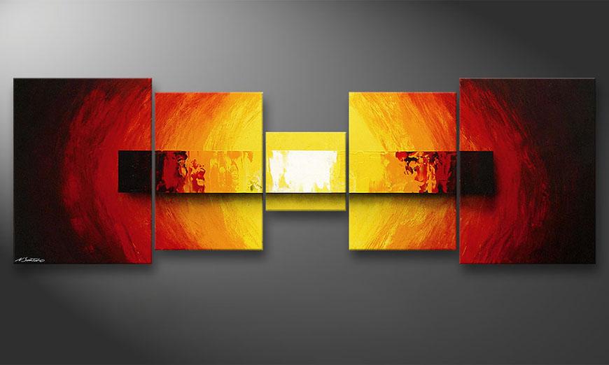 Le tableau mural Fire Bloc 210x70x2cm