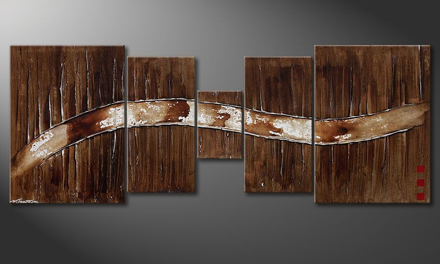 Le tableau mural Frozen Moments 180x70x2cm