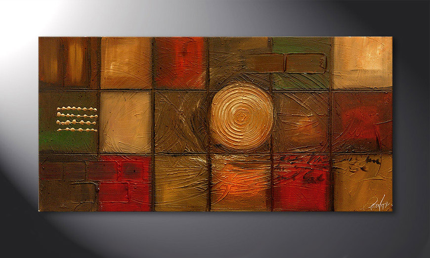 Le tableau mural Golden Center 120x60x2cm