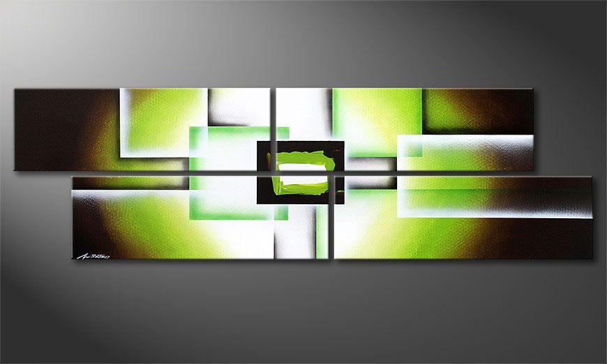 Le tableau mural Green Spirit 200x60x2cm