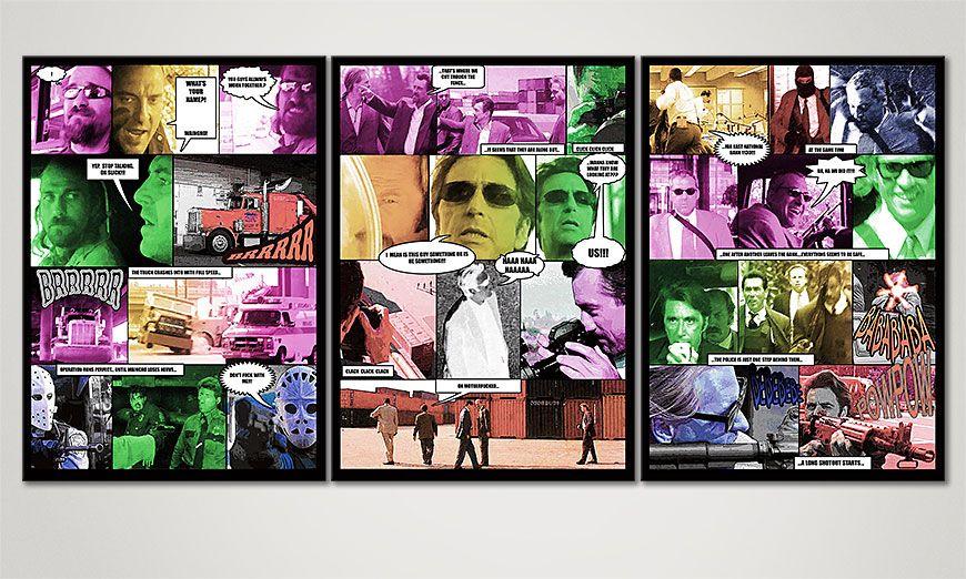 Le tableau mural Heat 150x70x2cm