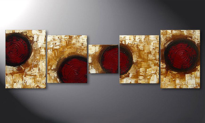 Le tableau mural Hot Spots 190x60x2cm