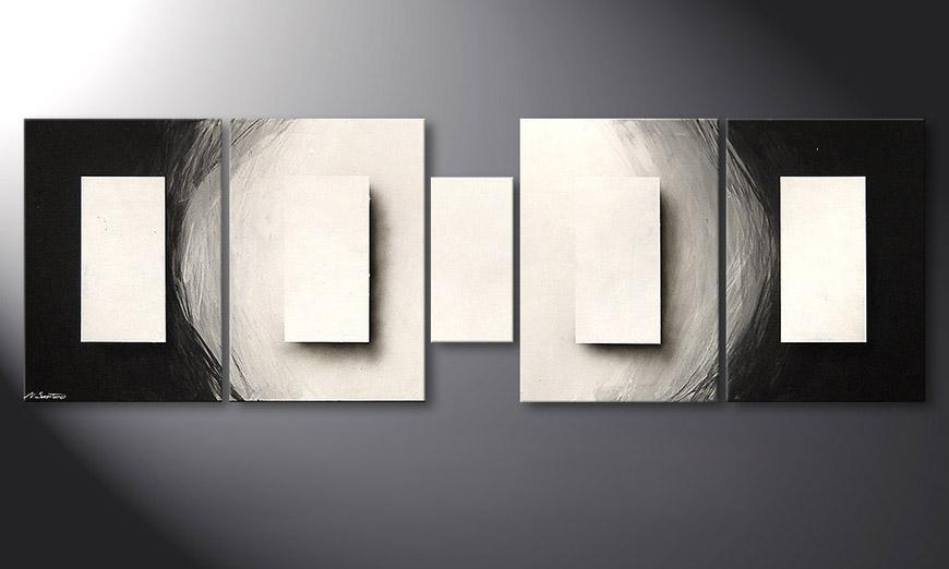 Le tableau mural Illuminated Cubes 220x70x2cm