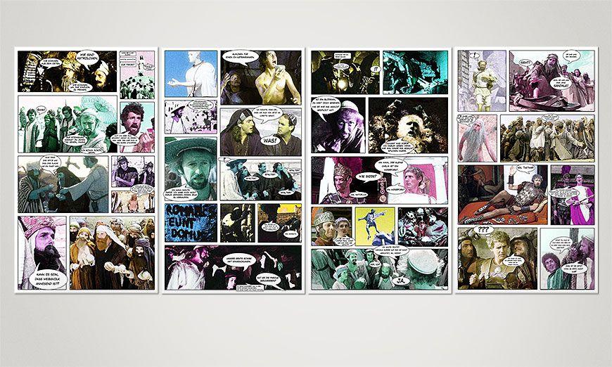 Le tableau mural La vie de Brian 160x70x2cm