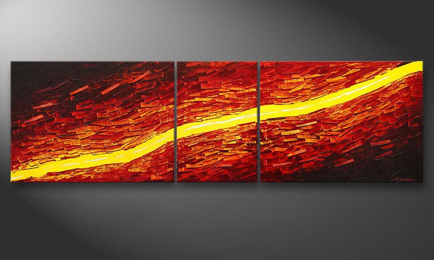 Le tableau mural Lava Stream 200x60x2cm