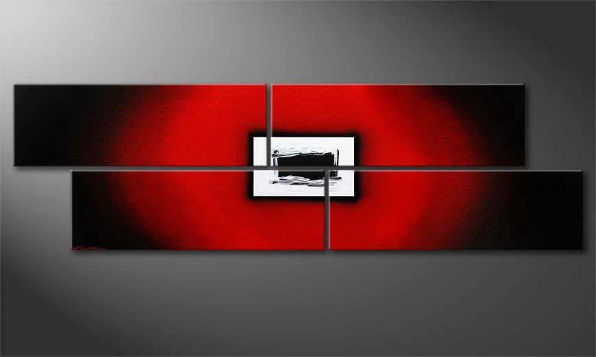Le tableau mural Lost Red 200x60x2cm