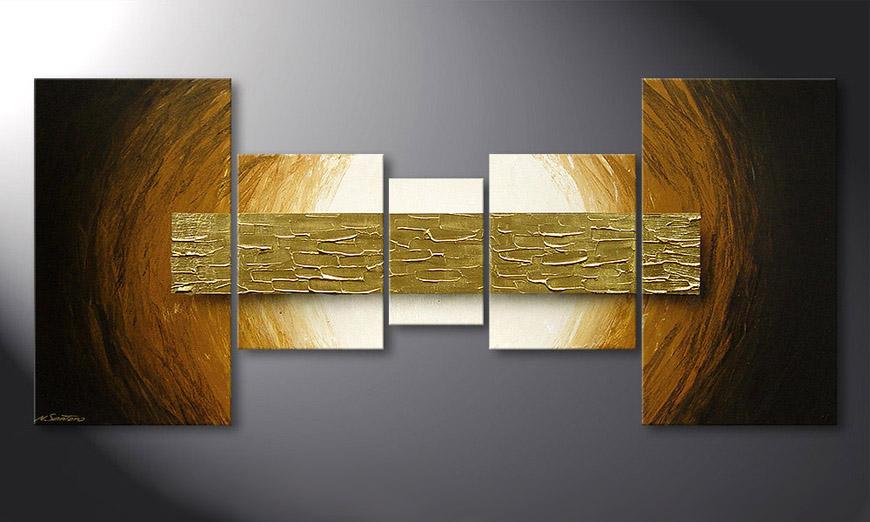 Le tableau mural Natural Gold 160x70x2cm