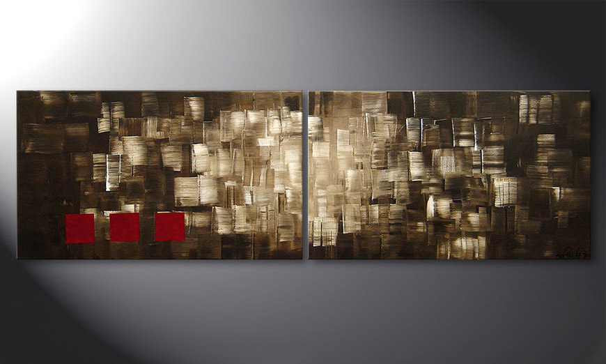 Le tableau mural Play of Light 200x60x2cm