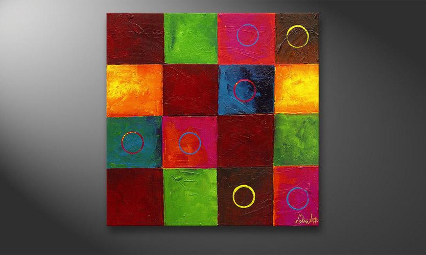 Le tableau mural Playful Potpourri 80x80x2cm