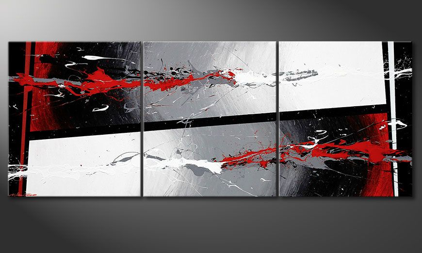 Le tableau mural Powerful Contrast 180x70x2cm