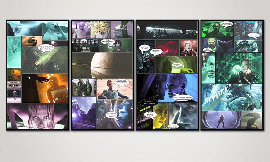 Le tableau mural Prometheus 160x70x2cm