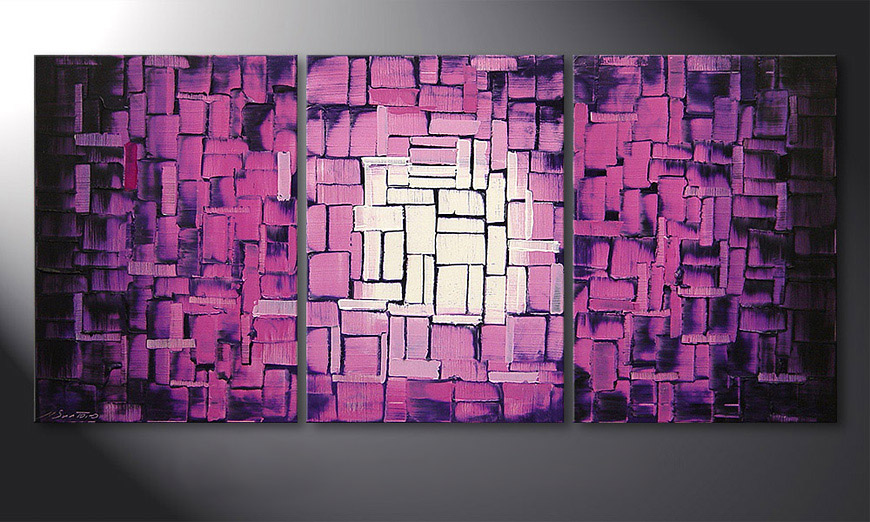 Le tableau mural Purple Afterglow 150x70x2cm