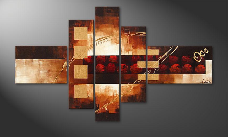 Le tableau mural Rose Phantasies 150x90x2cm