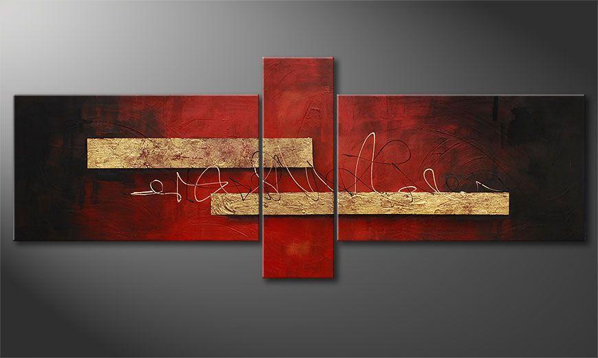 Le tableau mural Sense of Delight 230x90x2cm