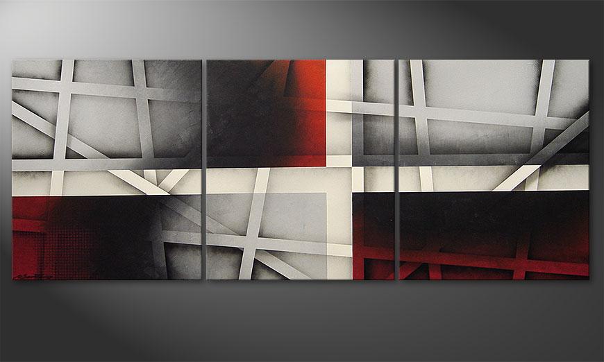 Le tableau mural Sizzling Emotions 180x70x2cm