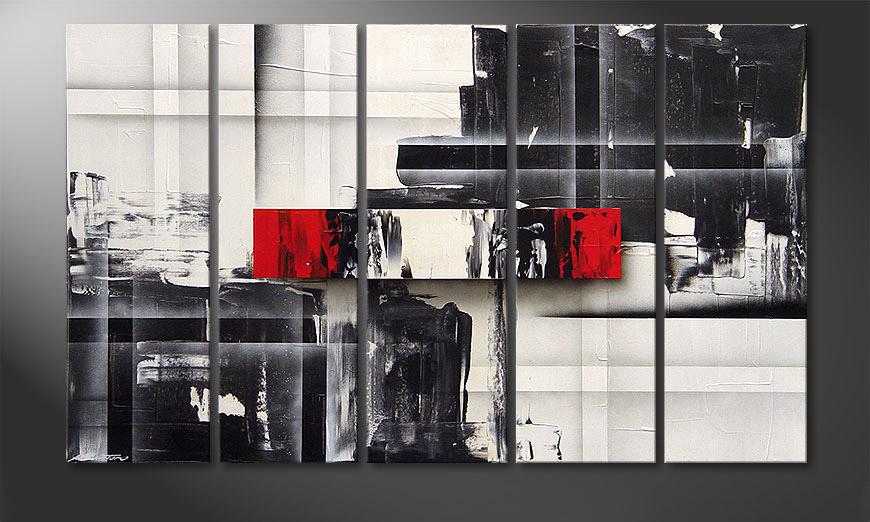 Le tableau mural Split Mirror 150x90x2cm