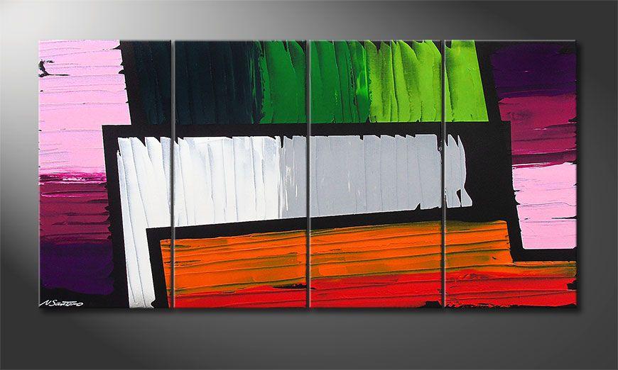 Le tableau mural Structure of Colors 160x80x2cm